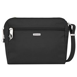 Travelon Women's Classic Convertible Crossbody & Waist Pack Cross Body Bag, Black, One ...