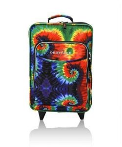 Kids Travel Suitcase, Rolling Luggage Piece, Light and Easy To Pull (Tie Dye)