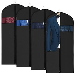 Univivi Garment Bag Suit Bag for Storage and Travel 43 inch, Anti-Moth Protector, Washable Suit  ...