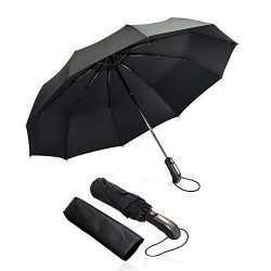 Umbrella mixigoo Umbrellas for Women Men 10 Ribs Large 2 3 Travel Umbrella Golf Umbrella Reverse ...