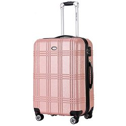 Expandable Spinner Luggage,TSA lightweight Hardside Carry On Luggage,Premium Pretty Girls Carryo ...