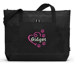 Personalized Dog Embroidered Tote Bag, Pet Gear Travel Bag