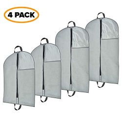 Garment Bags – Clothing protection from dust and moth; storage of dresses, suits and coats ...