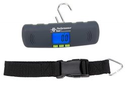 Performance Tool W1477 Compact Light weight Digital Hanging Luggage Scale, 100 lb / 45Kg  Capacity