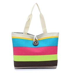 Women Canvas Travel Weekender Overnight Carry-on Shoulder Duffel Tote BagLadies Women Canvas Tra ...