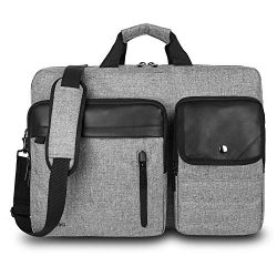 Convertible Backpack Messenger Bag 17.3 Inch Laptop Shoulder Bag Expendable Business Briefcase E ...