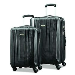 Samsonite Pulse Dlx Lightweight 2 Piece Hardside Set (20″/28″), Black, Exclusive to  ...