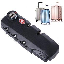 Goodqueen 3 Digit Combination TSA Secure Padlock Lock Luggage Suitcase Travel Code Lock for