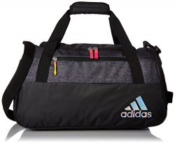 adidas Women's Squad Iii Duffel Bag, Heather Print Deepest Space/Black/Shock Pink/Shock Sl ...