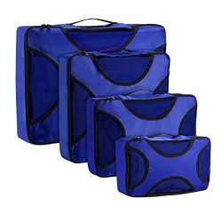 OMORC Travel Packing Cubes, 4 Set Luggage Packing Organizers with Laundry Bag