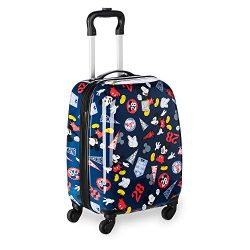 Disney Mickey Mouse Rolling Luggage for Kids Blue427249250971