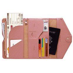 Highpot RFID Blocking Travel Passport Wallet Tri-fold Document Organizer Holder Slim Id Card Cas ...