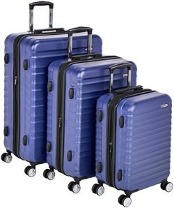 AmazonBasics Premium Hardside Spinner Luggage with Built-In TSA Lock – 3-Piece Set (20&#82 ...