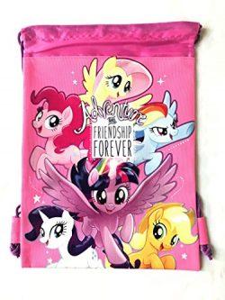 My Little Pony Wallet-Passport Bag- String Sling Tote Bag Backpack (PINK SLING BAG)