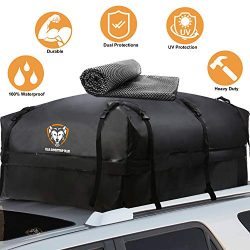 Waterproof Rooftop Cargo Carrier – Heavy Duty Roof Top Luggage Storage Bag with Anti-slip  ...