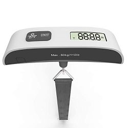 Sonmer Magic Digital Hanging Luggage Scale, Weighs up to 110 Pounds,With Rubber Paint Temperatur ...