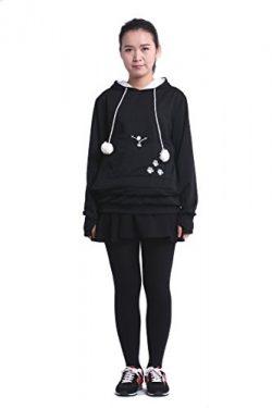 SAIANKE Womens Hoodies Pet Holder Cat Dog Kangaroo Pouch Carriers Pullover – Medium – ...