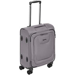 AmazonBasics Premium Expandable Softside Spinner Luggage With TSA Lock – 18-Inch Internati ...