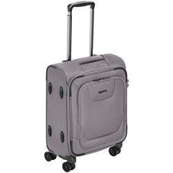 AmazonBasics Premium Expandable Softside Spinner Luggage With TSA Lock – 18-Inch Internati ...