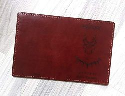 Black Panther Wakanda Personalized leather handmade passport cover holder wallet case gifts R ...