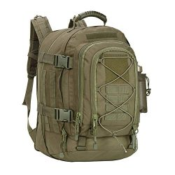 PANS Military Expandable Travel Backpack Tactical Waterproof Outdoor 3-Day Bag,Large,Molle Syste ...