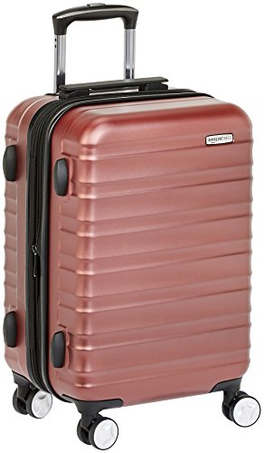 AmazonBasics Premium Hardside Spinner Luggage with Built-In TSA Lock – 20-Inch Carry-on, Red