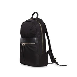 Knomo Luggage Women's Mayfair Nylon Beauchamp Backpack 14″, Black, One Size