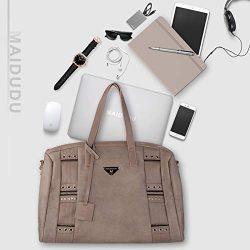 MAIDUDU Casual Women's Handbag & Retro Elements Tote Bag & Shoulder Bag with Large ...