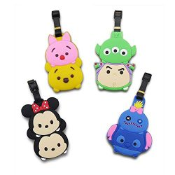 Finex Set of 4 – Tsum Tsum Mickey Mouse Minnie Mouse Travel Luggage ID Tag for Bags Suitca ...