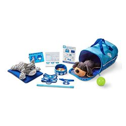 Melissa & Doug Tote & Tour Pet Travel Play Set, 2 Plush Stuffed Animals, 15 Pieces, 10.5 ...