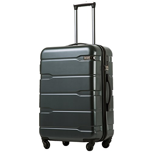 COOLIFE Luggage Expandable(only 28″) Suitcase PC+ABS Spinner Built-in TSA Lock 20in 24in 2 ...