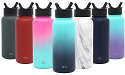 Simple Modern 14oz Summit Water Bottle with Straw Lid – Vacuum Insulated Powder Coated Tra ...