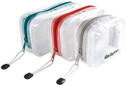 3 Pack Organizer Storage Packing Bags by GoToBag – Clear Water Resistant Solid Reinforced  ...