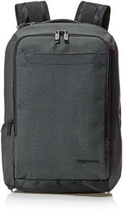 AmazonBasics Slim Carry On Travel Backpack, Black – Overnight