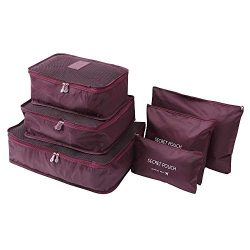 Hot Sale!DEESEE(TM)6pcs Travel Set Clothes Laundry Secret Storage Bag Packing Luggage Organizer  ...