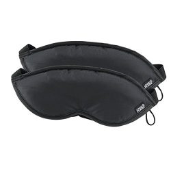 Lewis N. Clark Luggage Comfort Eye mask 2pk blk, Black