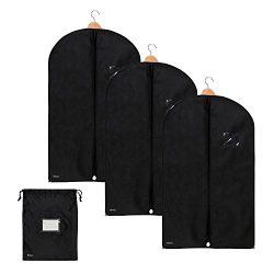 Bruce. 3X Premium Garment Bag incl. Shoe Bag | 39.4 x 23.6 inches – 100 cm x 60 cm | Suit  ...