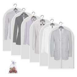 Allhom Moth Proof Garment Bags – Set of 6 pcs 40 inch Hanging Clothing Storage Bags and Ce ...