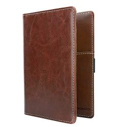 MoKo Passport Holder, PU Leather Travel Case Cover for Passport, Brown