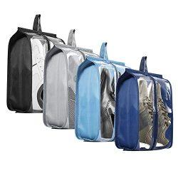 Shoe Bags for Travel – Tinbrot Zipper Storage Organizer Bag Transparent Waterproof Tote Po ...