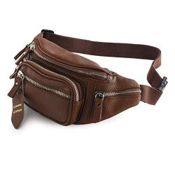 Nabob Leather Leather Fanny Pack, Hip Bum Bag Mens Waist Bag, Unisex, Travel Pouch, Multiple Poc ...
