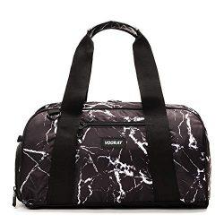 Vooray Burner 16″ Compact Gym Bag with Shoe Pocket (Black Marble)