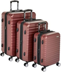 AmazonBasics Premium Hardside Spinner Luggage with Built-In TSA Lock – 3-Piece Set (20R ...