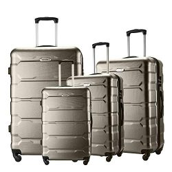 Seanshow Familly Luggage Set 4 PCS Lightweight Spinner Suitacase Set 18″ 22″ 26&#824 ...