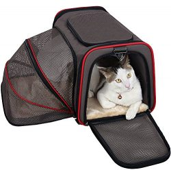 Petsfit 19″x12″x12″ Expandable Foldable Washable Travel Carrier, Not All Airli ...