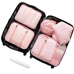 Lonew 7Pcs Packing Cubes, Travel Luggage Packing Organizers – Multi-functional Clothing So ...