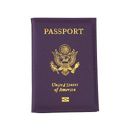 Travel USA Passport Cover Women Passport Holder Business Card for Passports Case Passport Wallet ...