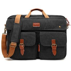 CoolBELL Convertible Messenger Bag Backpack Laptop Shoulder Bag Business Briefcase Leisure Handb ...