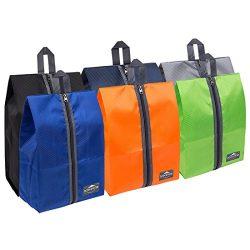 DOKEHOM DKA3030G1 Portable Nylon Travel Shoe Storage Organizer Bag (8 Colors) with Zipper Closur ...