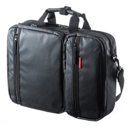 SANWA 3-in-1 Laptop Briefcase, 15.6 inch Business Bag, Water Resistance, Hand/Shoulder / Backpac ...